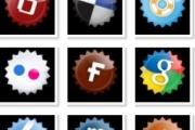 Социальные иконки в форме звезды