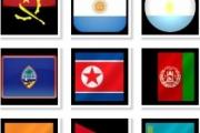 22 иконки с азиатскими флагами
